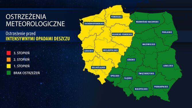Uwaga na ulewy w zachodniej <br />i północno-zachodniej Polsce