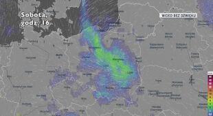 Prognozowane opady w kolejnych dniach (Ventusky)