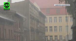 W Chorzowie padał ulewny deszcz